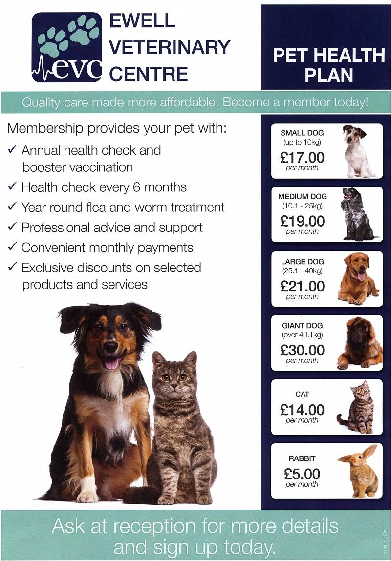 Pet Health Plan Ewell Vets